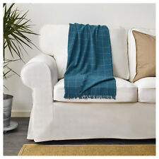 Ikea Couch Sofa Knee Lounge Blanket Throw Rug Bedspread 110x170CM Checked Blue