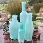 Handblown Handcrafted Blue Glass Bottle Vase 4 Styles From 25cm to 46cm Tall