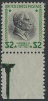 US Stamps - Scott # 833 - $2 Prexie - Sheet Margin Single - MNH          (H-795)