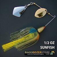 Bassdozer spinnerbaits ROYAL OKLAHOMA BULLET 1/2 oz SUNFISH spinner bait baits