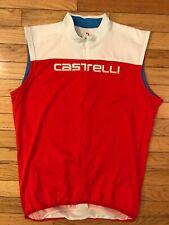 VTG Castelli Squadra Scorpion Sleeveless Italian Cycling Roadbike Jersey XL