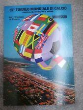 CARTOLINA VIAREGGIO 55 coppa CARNEVALE 2003 calcio football postcard Cup vintage