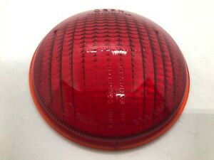 VW Mercedes Porsche Vintage Red Fog Light Glass Lens K8408 K8409 Genuine NOS