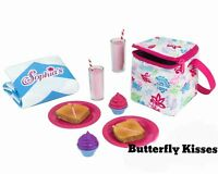 Picnic Lunch-School 12 PC Set +Thermal Cooler 18 in Doll Food For American Girl