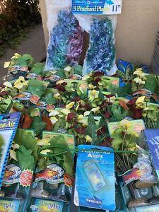 Aquarium Plants Fish Tank Deco Penn Plax Lot