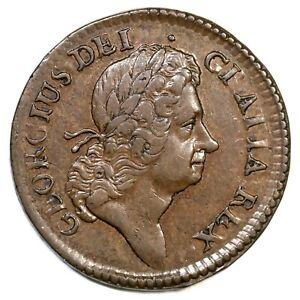 1723 4.34-Gb.3 Hibernia Halfpenny Colonial Copper Coin 1/2p