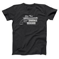 Skin That Smokewagon Funny  Country  Tombstone Black Basic Men's T-Shirt