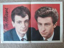 The Allisons - 60s pop duo / Eurovision 1961  -  original colour centrefold pic.