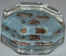 Vintage Glass Paperweight Paris