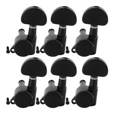 Guitar Locking Tuners  Machine Heads for Electric Acoustic Parts Black 6L Inline