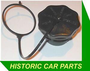 BLACK PLASTIC Oil Filler Cap & lead for Rocker Box on Morris Mini 848cc 1962-81