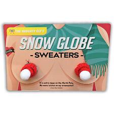 Snow Globe Sweaters - Funny Hooter Warmer for Women - Funny Adult Gag Gift Joke