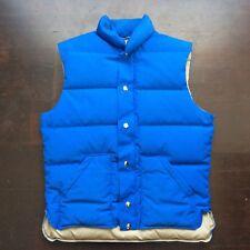 Vintage Top Gear 80s Blue Goose Down Ski Vest Mens Medium Fits Small USA