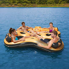 Inflatable River Tube Heavy Duty Portable Lake Water Float w Cooler SEATS 4