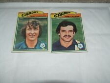 2 x CARDIFF CITY Tony Evans Rod Thomas Topps  Football Cards 1978  Orange Backs