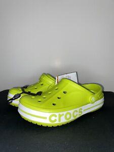 Crocs Bayaband Clog SZ Mens 6 Wmns 8 Lime Green Slides Shoes NEW 205089-3T1 !!