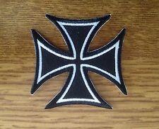 Patch / Ecusson croix de malte iron cross malte biker 7x7 Cm