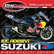 Adesivi/stickers Kit Suzuki Gsx-r 1000 K3 2003 Black Edition - Real Cromo-fluo