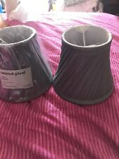 2 Small  Matching Dunelm Grey Silky Clip On Shades