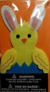 CUTE Papyrus Easter Card -- Felt Chick with Bunny Ears with Real Stitching