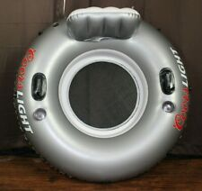 Coors Light Inflatable Floating River Lake Ocean Tube Raft Can Holders
