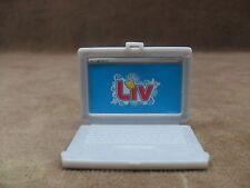 Liv Doll Gray Laptop Computer Miniature Accessory Dollhouse Diorama Office