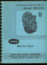 Rare Original Factory Marine Gear MG 514 Boat Transmission Service Manual SM 133