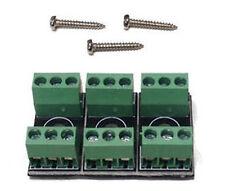 Gaugemaster SEEP PM50 - 3 x Point Motor Wire Connecting Blocks + Screws 1st Post