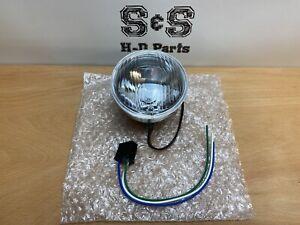 "Motorcycle Storehouse Headlight Headlamp Unit H4 4"" 90mm ECE 901893"