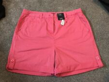 M&s 1000% Cotton Pink Shorts Size 14 Bnwt Free Sameday Postage