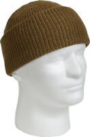 Coyote Brown 100% Wool Hat Warm Winter Knitted Watch Cap USA Made