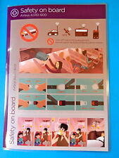 VIRGIN ATLANTIC AIRLINES SAFETY CARD--AIRBUS 340-600--NEW EDITION!!!