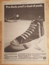 Pro - Keds Uniroyal baseball boots 1978 press advert Full page 28 x 39 cm poster