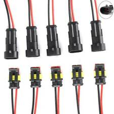 10pairs 2 Pin Car Waterproof Male Female Two Way Electrical Connector Plug Wire