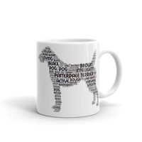 Patterdale Terrier Word Art Dog Mug, Colour Choice Browns or Blacks Mothers Day