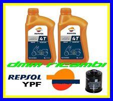 Kit Tagliando Aprilia SPORTCITY 125 200 250 300 + Filtro Olio REPSOL Sint. 5W40