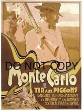 Antique Repro 8X10 Monte Carlo Pigeon Shooting Poster Photo Print # 1