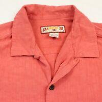 Caribbean Joe Hawaiian Shirt Men's Large Short Sleeve Pink