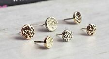 Body Jewelry/ Piercing 25g threadless Pin 14k Solid Gold Hammered Round Disk
