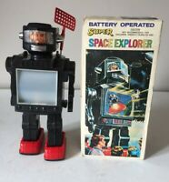 """HORIKAWA """"SPACE EXPLORER"""" ROBOT BATTERY OPERATED FLIGHT OF APOLLO WORKING BOXED"""