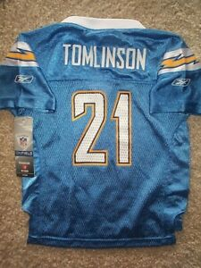 ($40) REEBOK San Diego Chargers LADAINIAN TOMLINSON nfl Jersey TODDLER (2-2T)