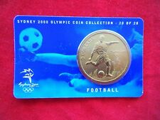 Sydney 2000 Olympic Coin Collection, $5 UNC RAM Coin - FOOTBALL 20/28