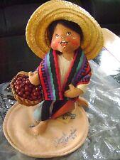 Annalee Puppe Sammlerstück südamerikanischen Mädchen 1995 7 in USA signiert