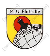 NEUF KRIEGSMARINE 14th Flotilla U-Flotille U-Boat broche insigne de coiffure -