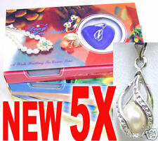 Wish Pearl Wholesale 5 Box Drop Pendant Necklace Women Natural Love Pearl Oyster