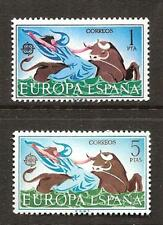 SPAIN # 1374-5 MNH RAPE OF EUROPA 1966