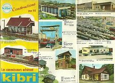 Catalogue Kibri 1960 train HO catalogo katalog jouet ancien rare constructions