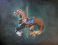 Seahorse Phineas Gypsy Vanner Carousel Horse 7X10 Print