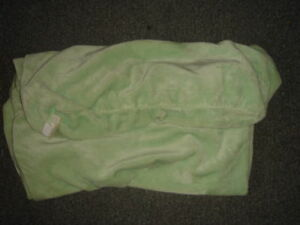 POTTERY BARN KIDS CHAMOIS CHANGING PAD COVER GREEN