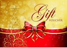 Christmas Gift Voucher Blank Beauty Salon Card Nail Massage x25 A6 + Envelopes